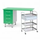 Металлические медицинские столы